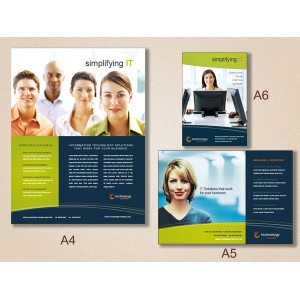 Double Sided A5 Uncoated Flyers (Art Paper 128 GSM)