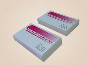 Double Sided Conquer Paper Business Cards